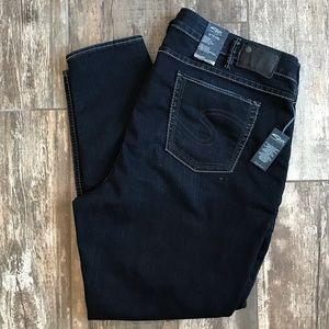 Silver Jeans Stevie High Rise Straight Skinny 22